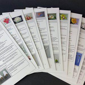 Floral Tutorial Booklet Downloads
